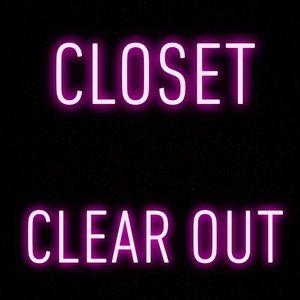GREAT CLOSET CLEAR OUT LOOK BELOW FOR DETAILS